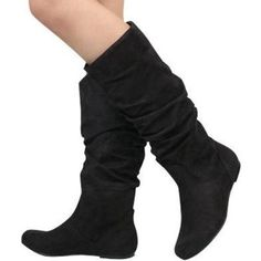 Wild Diva Kalisa-04 Vickie Round Toe Mid High Boots Shoes,$36.99 - $48.23