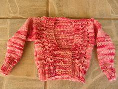 Tricotando carinho: casaquinho de bebê