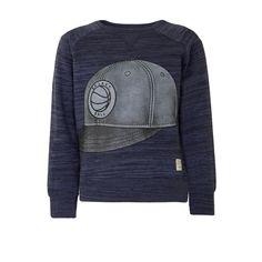 Sweater Cap, Blauw melee