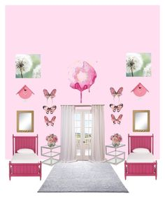 """A Very Pink Room"" by seahorse1243 on Polyvore featuring interior, interiors, interior design, home, home decor, interior decorating, ESPRIT, EFF, Ethan Allen and Diane James"