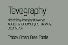 Friday Fresh Free Fonts - Tevegraphy, Vast Shadow, ...