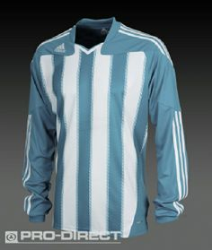 adidas Teamwear - Football Shirts - adidas Stricon Long Sleeve Jersey - Team Kits - Argentina Blue-White Size: Large