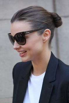 Black Blazer + White Tee but love the glasses!