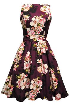 87f7483bc077 Darling Damson Bouquet Tea Dress - This Classic