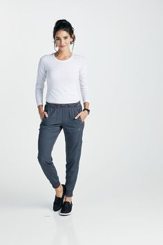 616af812d7b Dickies Dynamix Tapered Leg Jogger Scrub Pants With Melange Contrast Scrub  Pants, Only Fashion,