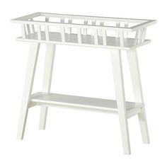 white painted ikea plant stand via gardenista