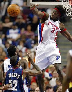 Ben Wallace (C) - Detroit Pistons, one of the NBAs best blockers, attended Virginia Union