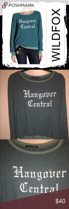 NWOT Wildfox green sweatshirt Brand new Hangover Central green sweatshirt size XS would fit XS-M Wildfox Tops Sweatshirts & Hoodies