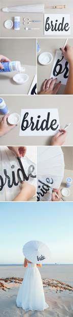 DIY Martha Stewart Crafts Decoupage Personalized Wedding Parasols #marthastewartcrafts #12monthsofmartha