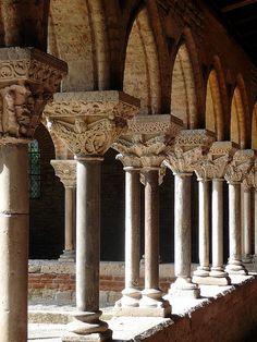 Abbatiale Saint-Pierre et Cloître romans ; commune de Moissac, Tarn-et-Garonne, Midi-Pyrénées, France