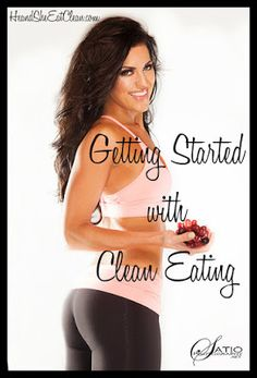 Get started with eating clean and change your life! Start with these simple tips. #exercise #diet #fitness #eatclean