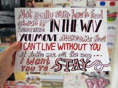 Stay Lyric Drawing on Etsy, $4.99