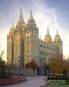 The Salt Lake Temple photo by Bracken Berger copyright 2009 www.BrackenBerger.com Price: $14.95-$199.00 #LDS, #Temple, #Utah