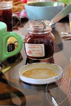 Mermelada de melocotón y vino tinto red wine and peach homemade jam Confiture maison pêche et vin rouge