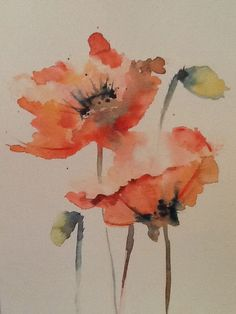 My poppies art в 2019 г. Watercolor Poppies, Watercolor Cards, Abstract Watercolor, Watercolor Illustration, Watercolour Painting, Poppies Art, Red Poppies, Watercolors, Watercolor Projects