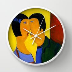 couple Wall Clock by agnes Trachet - $30.00
