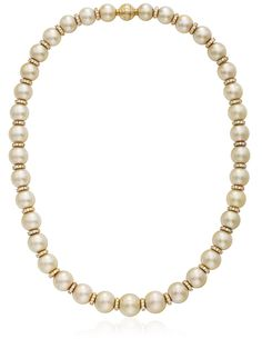 MIKIMOTO GOLDEN CULTURED PEARL AND DIAMOND NECKLACE