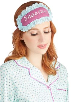 Early Does It Sleep Mask. Though the sun is whispering through your window, you take it easy for just a few more minutes with this purple sleep mask by P.J. #purple #modcloth