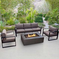 Real Flame Baltic 28 in. L x 81.5 in. W x 28.4 in. H 3-seat Sofa