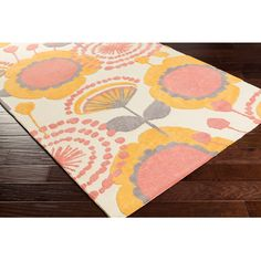 Meticulously Woven Peony Floral Area Rug (2' x 3') - Overstock™ Shopping - Great Deals on Accent Rugs