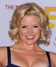 Megan Hilty Hairstyle - Formal Short Curly. Click on the image to try on this hairstyle and view styling steps!