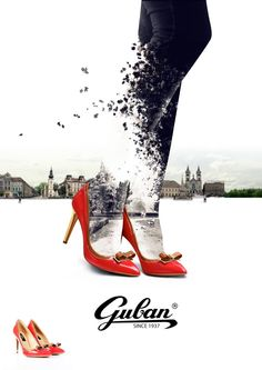 Poster madeto advertise Guban shoes collection for this autumn and winter. #ADwiser