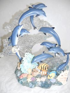 "2005 LENOX LIMITED EDITION ""A SPECTACLE of DOLPHINS"" STATUE"