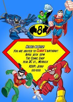 Super Hero Squad  The Avengers Birthday Invitation by Asapinvites, $12.00