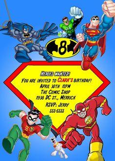 Super Hero Squad The Avengers Birthday Invitation by Asapinvites, $12.00