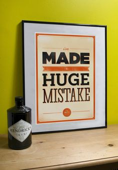 hahaha. Arrested Development Art Print Huge Mistake A3 by VisualEtiquette, $20.00