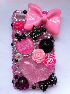 Victorias Secret Pink iPhone 4/4g/4s bling case by sparklingskye, $38.00
