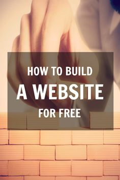 how to build a website for free