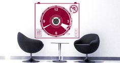 Change the look of your rooms in a heartbeat with Dezign With a Z's Vinyl TurnTable Clock wall decal. Kids Room Wall Stickers, Vinyl Wall Decals, Guitar Wall, Music Wall, Decorate Your Room, Küchen Design, Vinyl Designs, Cool Walls, Led