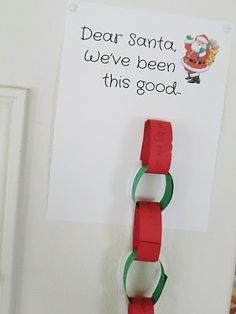 Add a link to the chain for each good thing the kids do—positive reinforcement!