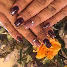 "7 Likes, 1 Comments - Cathyjcjs (@amybeautyschool_corona) on Instagram: ""#gelmanicure #designnail #rhinestonenails #berryberry #glitternails @jackie_chappell_hahner"""