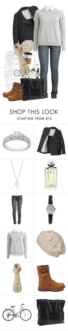 """""""Sophie Rostenkowski - OC #2"""" by pecio-chan ❤ liked on Polyvore featuring Kobelli, Margaret Howell, Tiffany & Co., Gucci, Wet Seal, Limit, VILA, Agent Ninetynine, Timberland and Vans"""