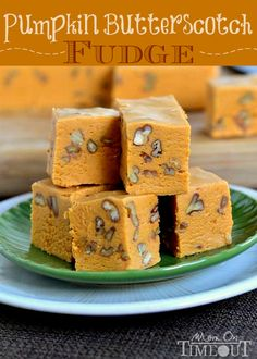 Pumpkin Butterscotch Fudge | MomOnTimeout.com #pumpkin #fudge