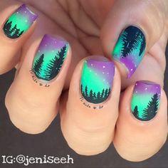 Worlds Best Nail Art, manicures, salon supplies, tutorials, nail trends. Helpful nail technician seminars and courses. Neon Toe Nails, Diy Nails, Cute Nails, Pretty Nails, Gradient Nails, Country Nails, Sunset Nails, Nagellack Design, Galaxy Nail Art