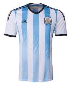 This is the new Argentina 2014 jersey , the Argentine national team's new home shirt for the World Cup in Brazil. It will be displayed . Argentina World Cup, Brazil World Cup, World Cup 2014, World Cup Shirts, World Cup Jerseys, Psg, Jersey Shirt, T Shirt, Shirt Sale