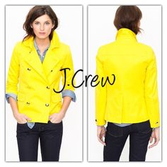 J.CREW YELLOW TRUDY PEACOAT JACKET Perfect jacket for the season! Bright color to brighten your outfit... Gold tone buttons and Peacoat style... Fully lined and sold out...Tag size 0 so fits like XS/S... Ask for measurements... In like new condition... If any questions or measurements lmk  J. Crew Jackets & Coats Pea Coats