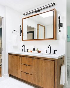 I am currently designing three  bathrooms for our new house. One of the biggest (and costly) pieces of a bathroom is the vanity, but after pinning hundreds of them for my own bathrooms we've rounded up our 68 favorites, and 16 of them are under $400. Head over to the blog to see (link in my bio). @em_henderson