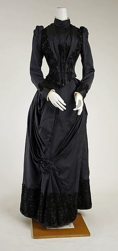 Dress Date: 1888–89 Culture: American or European Medium: silk Dimensions: [no dimensions available] Credit Line: Gift of Mrs. J. Randall Creel, 1963