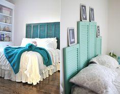 schlafzimmer-ideen-für-bett-kopfteil-selber-machen-aus-fensterläden