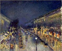 Camille Pissarro - Boulevard Montmartre nachts