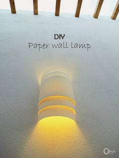 DIY Paper wall lamp