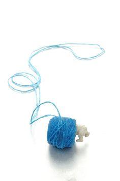 Polar Bead Blue Necklace, one of a kind. Jewelry Art, Jewelry Design, Find Objects, Blue Necklace, Blue Beads, Wearable Art, Best Gifts, Cufflinks, Brooch