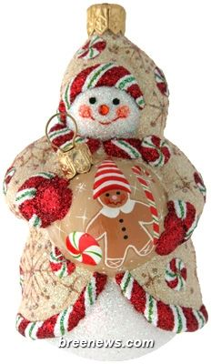 Ornamental Snowman (Gingerbread) Patricia Breen