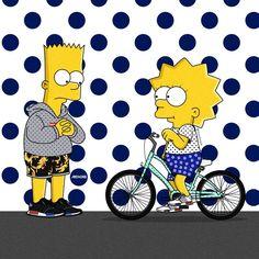 Bart And Lisa Simpson, Simpson Tv, Homer Simpson, Bape Art, Simpsons Drawings, Different Art Styles, Kawaii Drawings, The Simpsons, Cute Wallpapers