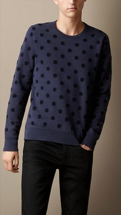 Cotton-Cashmere Polka Dot Sweater | Burberry