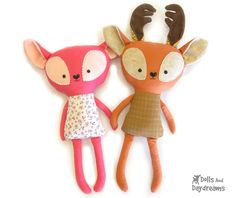 Fawn and Deer Sewing Pattern - Dolls And Daydreams
